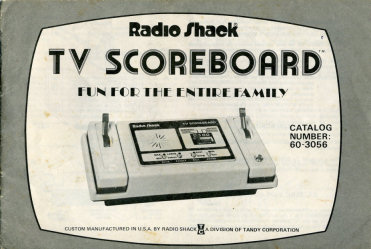 Radio Shack TV Scoreboard Model 60-3056 Manual Cover