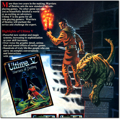 Origin Ultima V Commodore 64 Ad - 1988