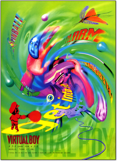 Nintendo Virtual Boy Promotional Ad from Nintendo Power - 1995