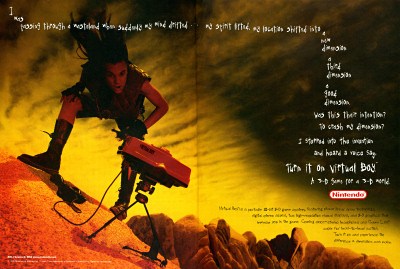 Nintendo Virtual Boy Wasteland advertisement- 1995