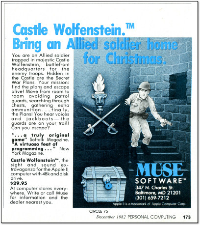 Castle Wolfenstein Christmas Ad - 1982
