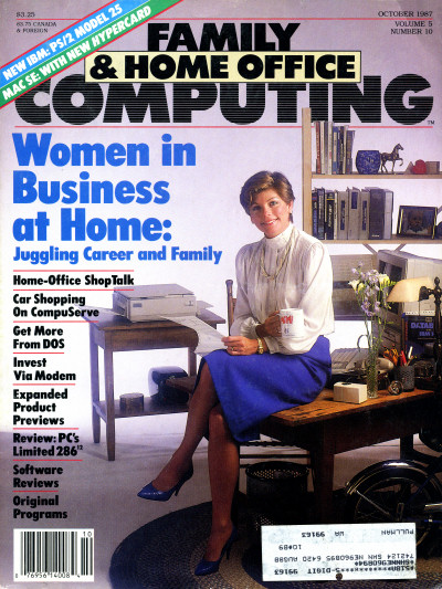 Business woman on Family & Home Office Computing Cover October 1987