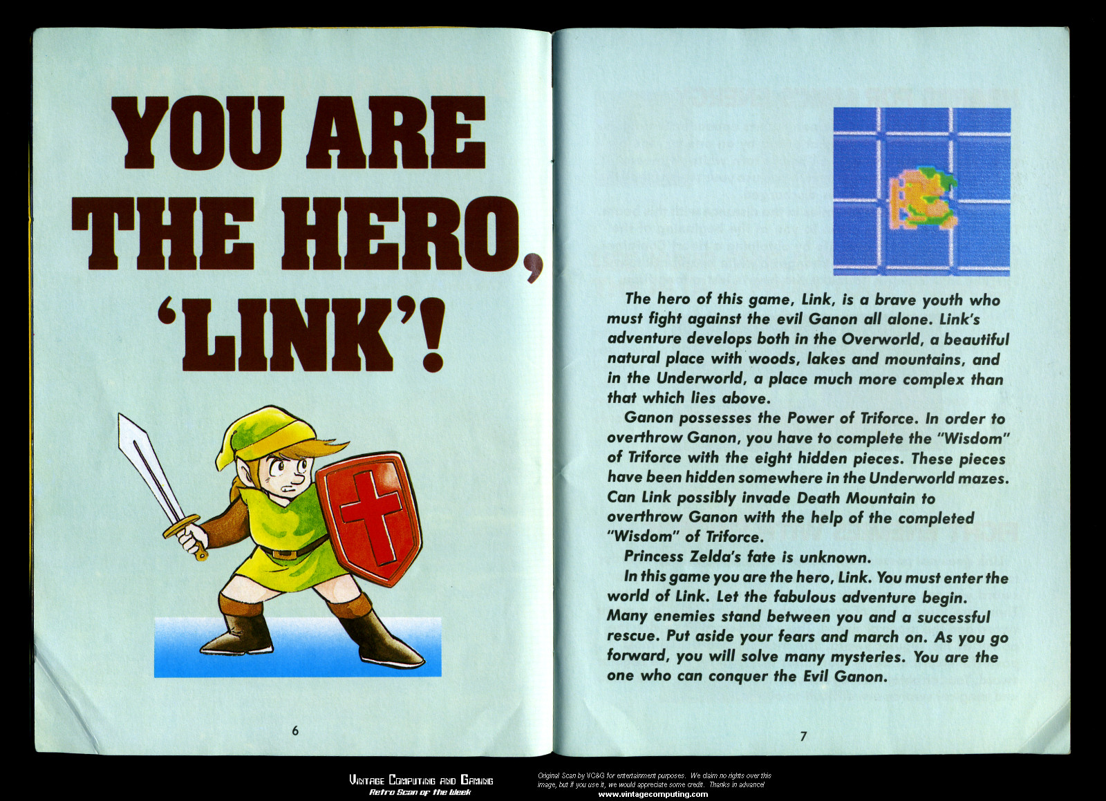 vc g retro scan of the week legend of zelda at 25 rh vintagecomputing com Carcassonne Game for the Instruction Manual Carcassonne Board Game Instruction Manual