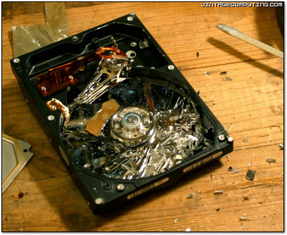 Shattered Glass Hard Disk Platter