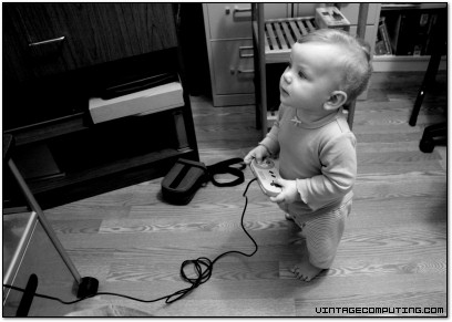 A 10-Month-Old Plays Super Nintendo - Photo by Benj Edwards