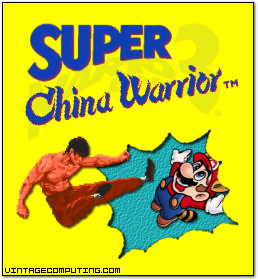 China Warrior kicks Mario