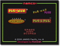 Super Pac-Man Menu