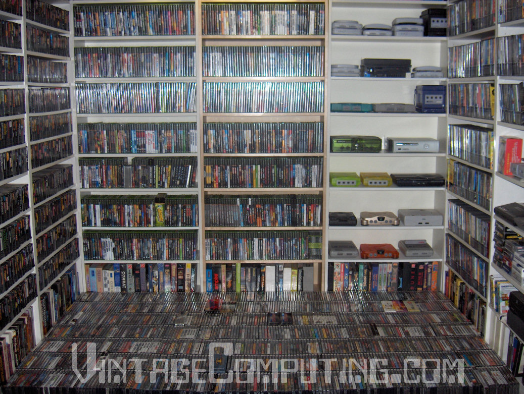 vc g interview attempt possible world s largest video game rh vintagecomputing com DVD Shelves IKEA DVD Display Shelves