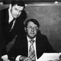 Bill Harrison and Bill Rusch at Sanders 1960s during Ralph Baer first video game console development photo