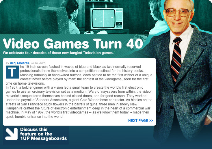 Video Games Turn Forty 1UP Screenshot