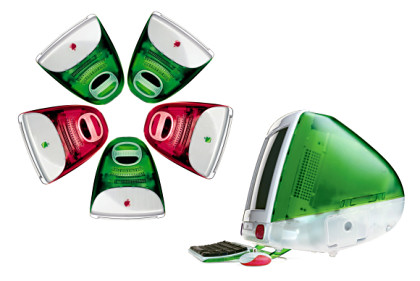 Theoretical Red and Green Christmas iMac