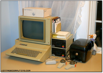 An Apple IIe system in Benj's Kitchen