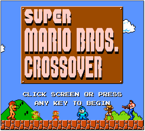 Super Mario Bros. Crossover Title Screen