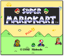 Super Mario Kart Title Screen (SNES)