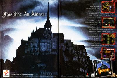 First Castlevania Symphony of the Night Magazine Advertisement - EGM 1997