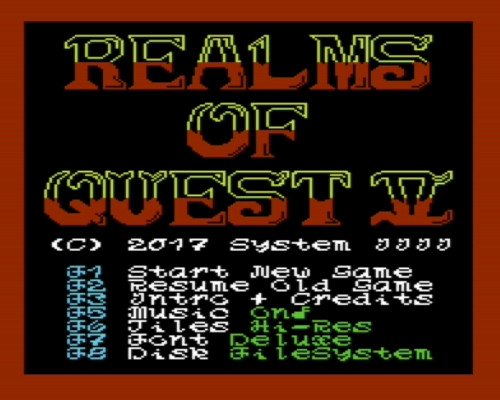 VIC-20 Realms of Quest V Screenshot