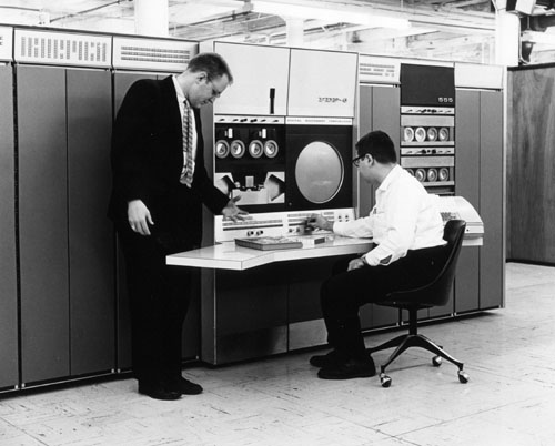 Alan Kotok and Gordon Bell with a DEC PDP-6