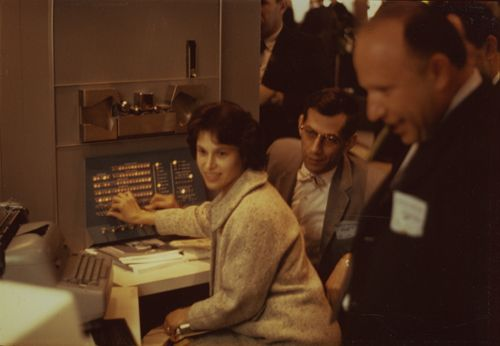 People Playing Spacewar in 1964