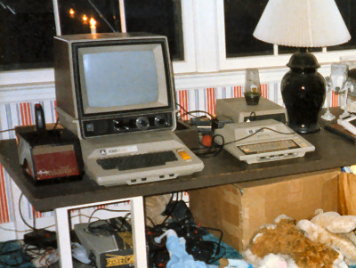 Benj's Brother's Bedroom in December 1985 - Atari 800 Atari 400