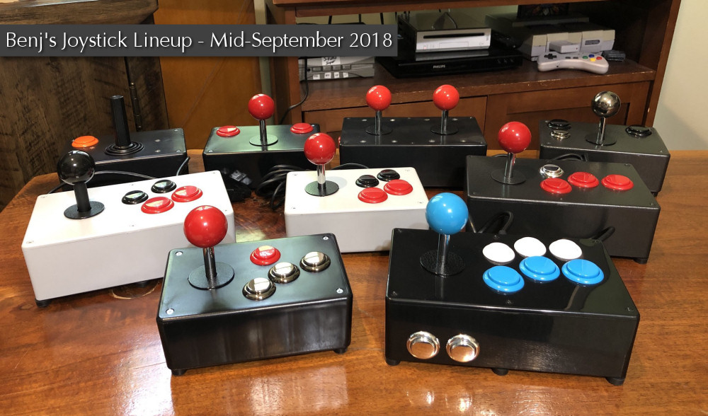 Benj's Joysticks in Mid-September 2018