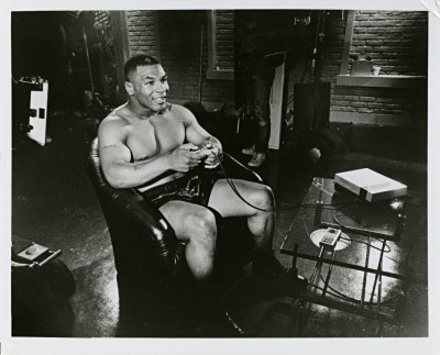 Mike Tyson's Punch-Out NES press photo 8x10 black and white scan - 1987
