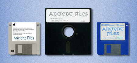 "Three ""Ancient Files"" disks"