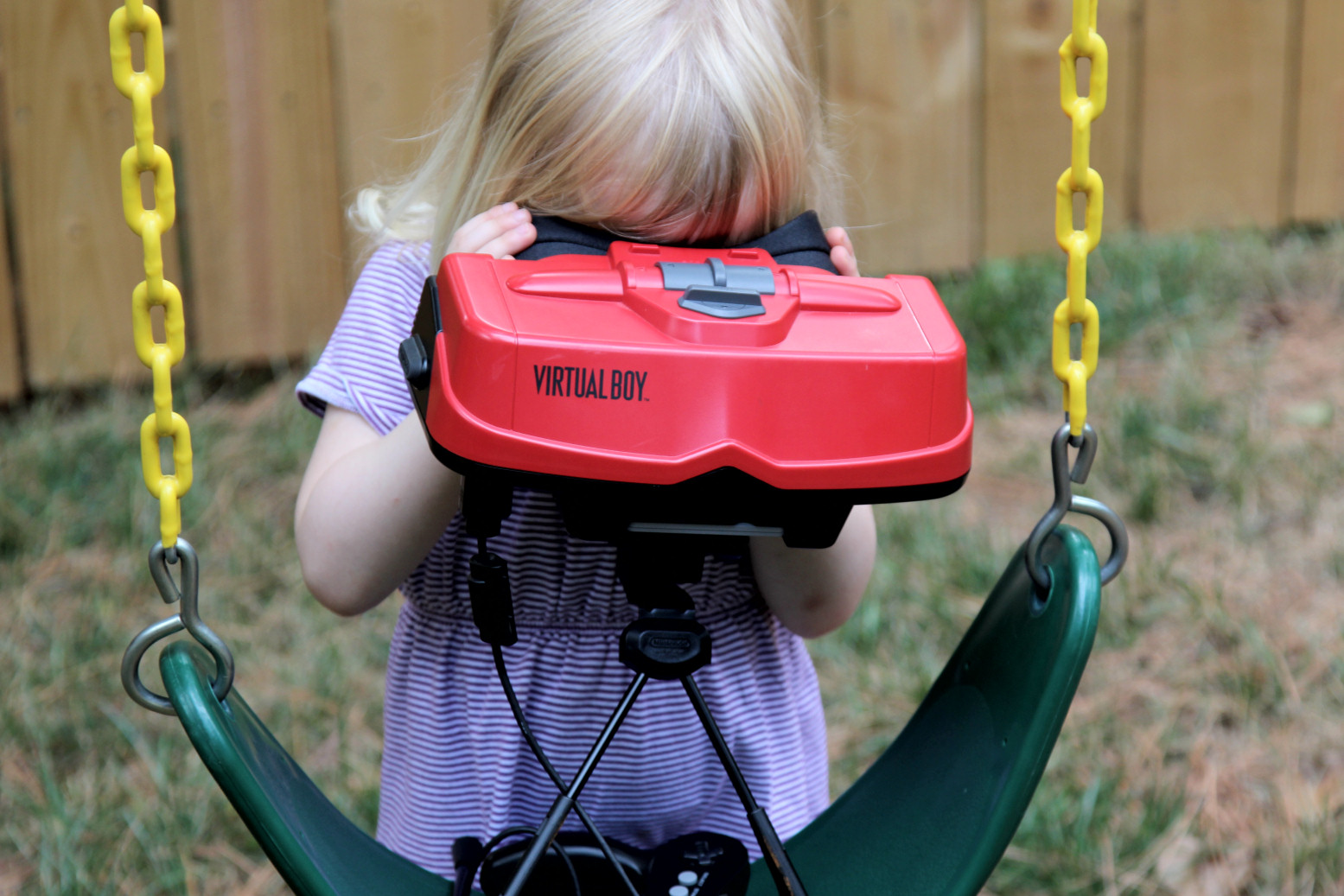 Virtual Boy on a Swing
