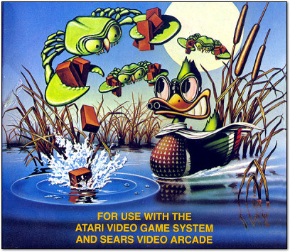 World's Weirdest Video Game Box Art - Deadly Duck - Atari 2600 - 1982