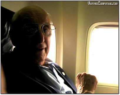 Ralph Baer with Benj Edwards on an Airplane