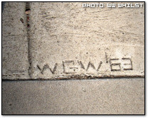 Initials in Concrete by ww_whilst