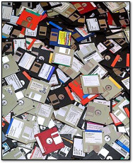 Pile of Floppy Disks