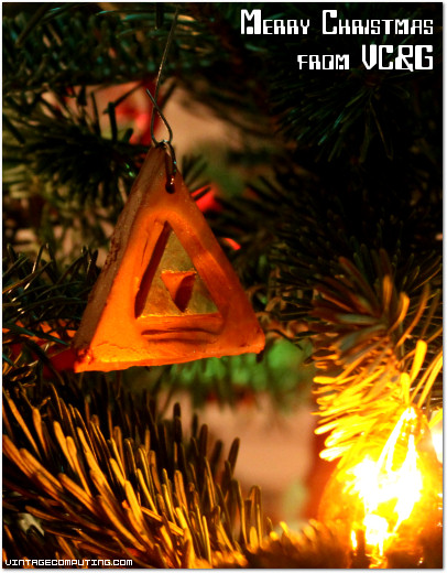 Custom Homemade Zelda Triforce Christmas Ornament