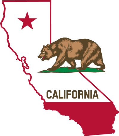 The State of California with a Bear