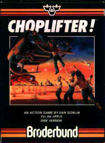 Choplifter Apple II Cover Art