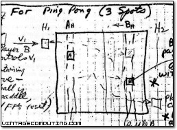 Bill Rusch's Ping-Pong Design in his Journal