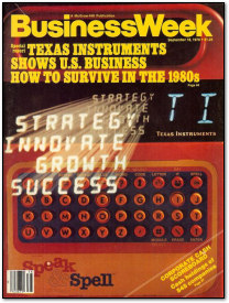 Texas Instruments Speak & Spell on the Cover of Business Week - September 18th 1978