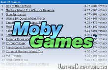 MobyGames Top 25 List