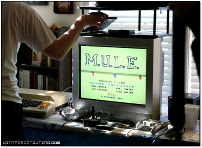 The Ultimate Party Game: M.U.L.E. (MULE) - A scene from Benj's recent birthday party.