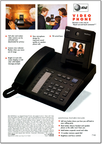 AT&T VideoPhone 2500 Page in 1992 Sears Wishbook - 1992