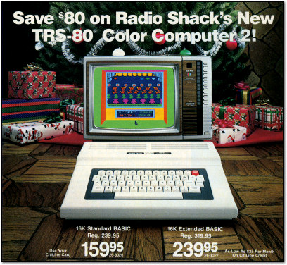 TRS-80 Color Computer 2 Christmas Ad