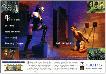 Deathtrap Dungeon Playstation PC CD-ROM ad -  1998