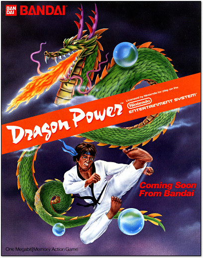 Bandai Dragon Power for NES Advertisement - 1988