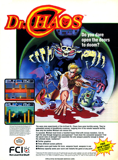 Dr. Chaos for NES Nintendo Ad - 1991