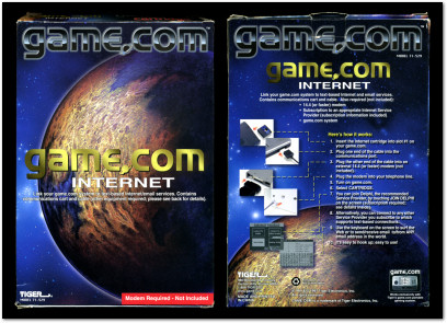 Tiger Game.com Internet Module Box Front and Back - 1997