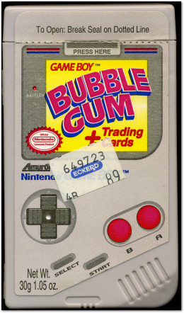 Game Boy Bubble Gum Container