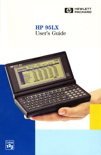 Hewlett-Packard HP 95LX HP-95LX Handheld Computer Pocket Computer Palmtop PC User's Guide Cover scan - 1991