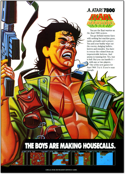 Ikari Warriors for Atari 7800 Ad - 1990
