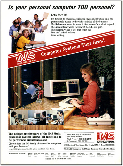 IMS International Ad - 1983