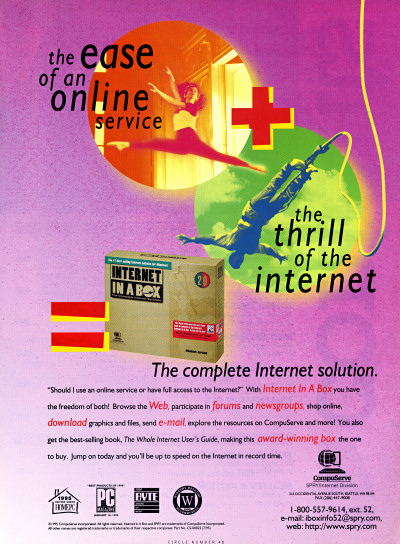 CompuServe SPRY Internet In a Box Advertisement 1996