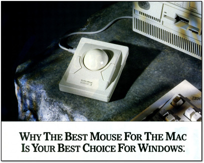 Kensington Expert Mouse for Windows Ad - 1990